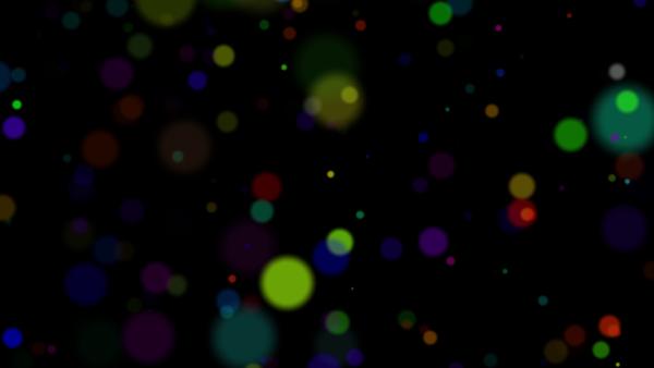 丸い光のパーティクル(カラフル)