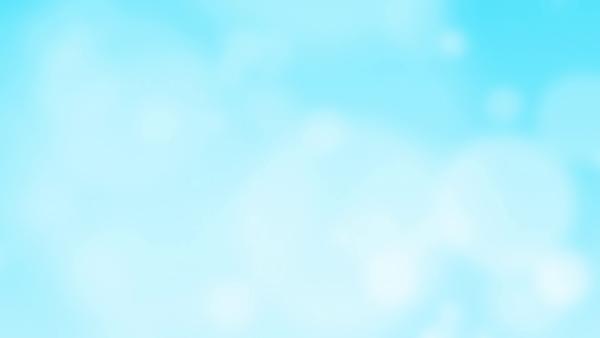 白の淡い円が雲のようにフワフワ漂う背景